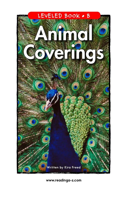 Book Preview For Animal Coverings Page 1