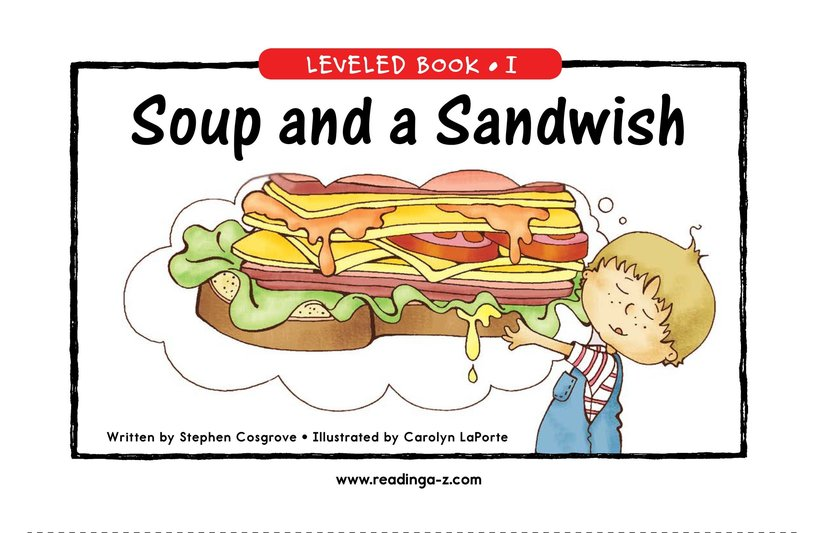 Book Preview For Soup and a Sandwish Page 1