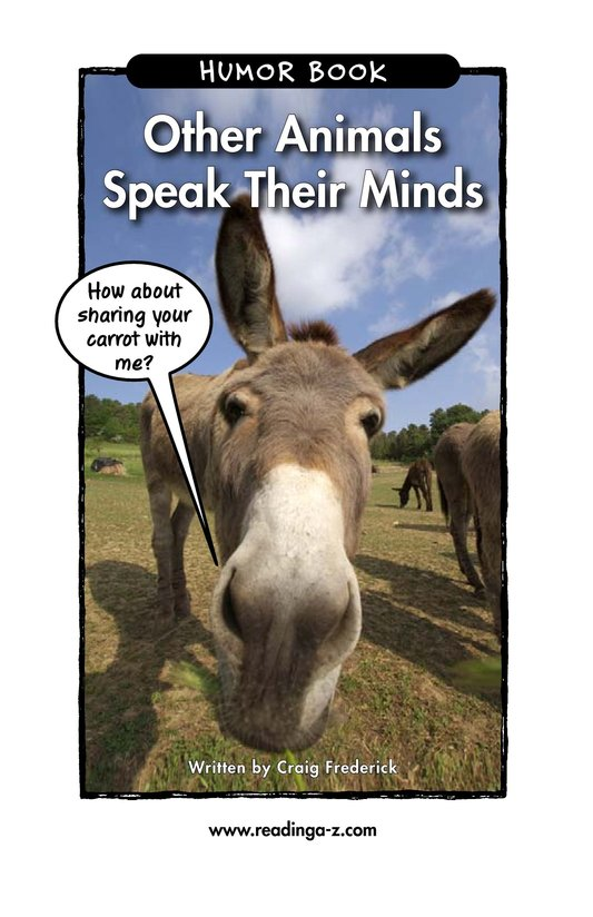 Book Preview For Other Animals Speak Their Minds Page 1
