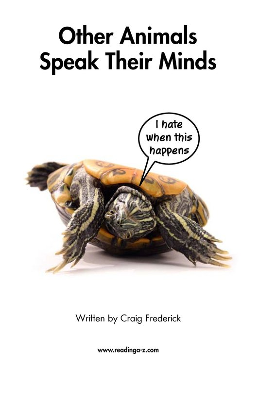 Book Preview For Other Animals Speak Their Minds Page 2