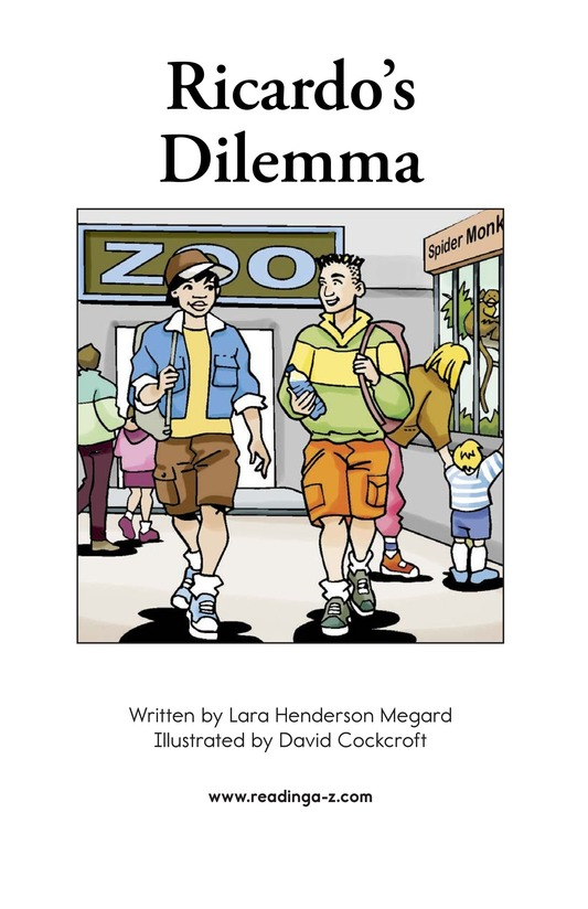 Book Preview For Ricardo's Dilemma Page 2