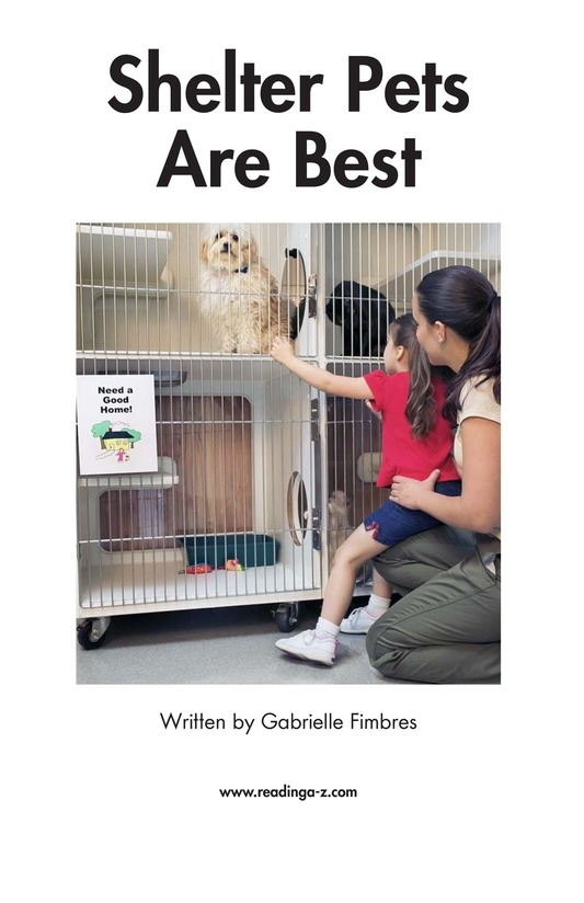 Book Preview For Shelter Pets Are Best Page 2