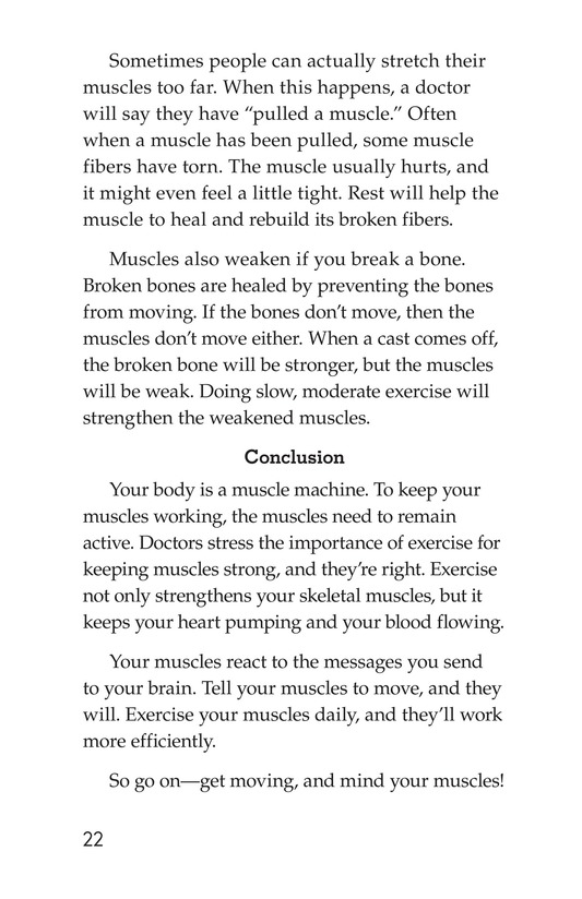 Book Preview For Get Moving! All About Muscles Page 22