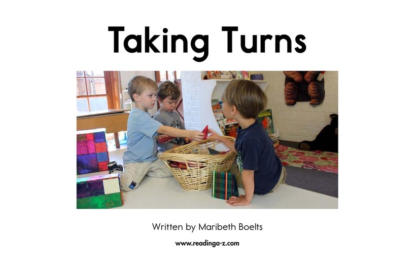 Book Preview For Taking Turns Page 2