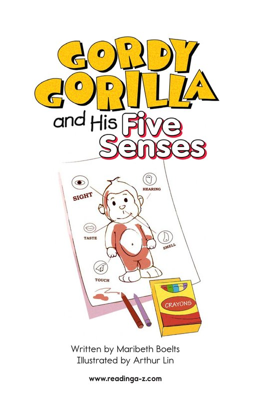 Book Preview For Gordy Gorilla and His Five Senses Page 2