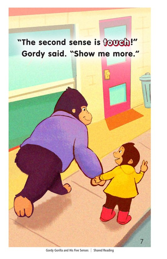 Book Preview For Gordy Gorilla and His Five Senses Page 7