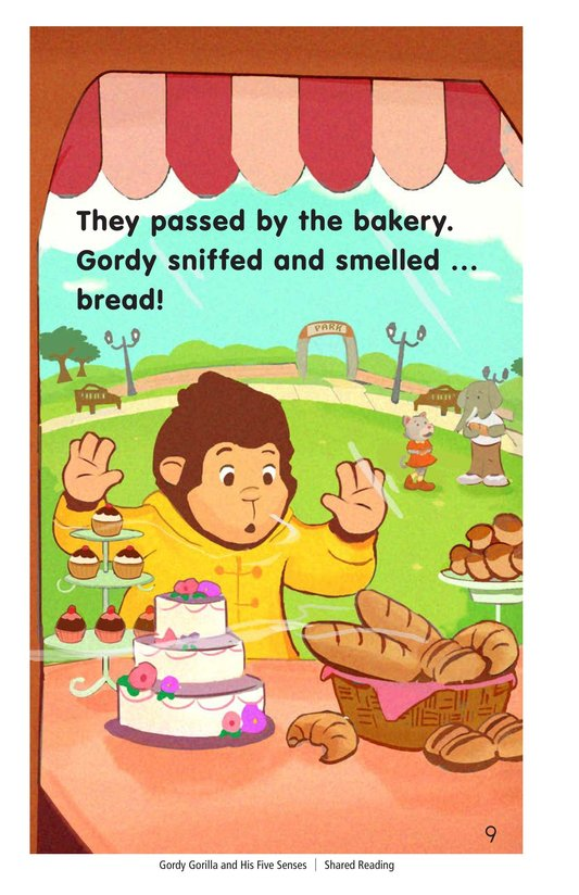 Book Preview For Gordy Gorilla and His Five Senses Page 9