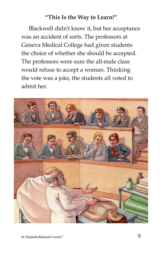 Book Preview For Elizabeth Blackwell: America's First Woman Doctor Page 9