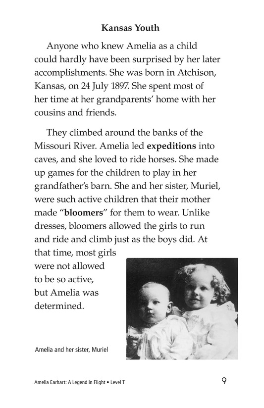 Book Preview For Amelia Earhart: A Legend in Flight Page 9