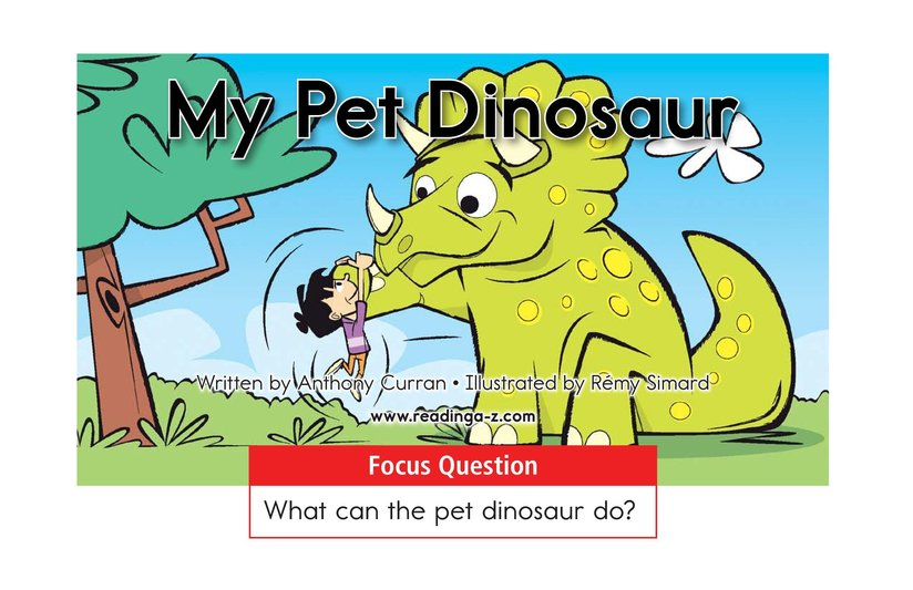 Book Preview For My Pet Dinosaur Page 1