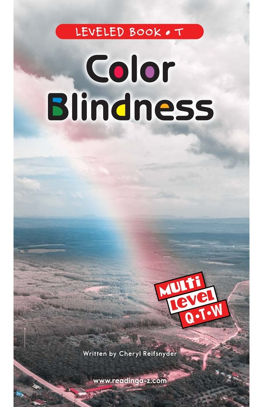 Book Preview For Color Blindness Page 0