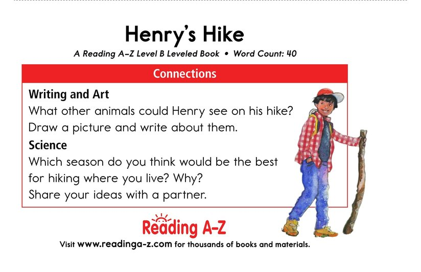Book Preview For Henry's Hike Page 11