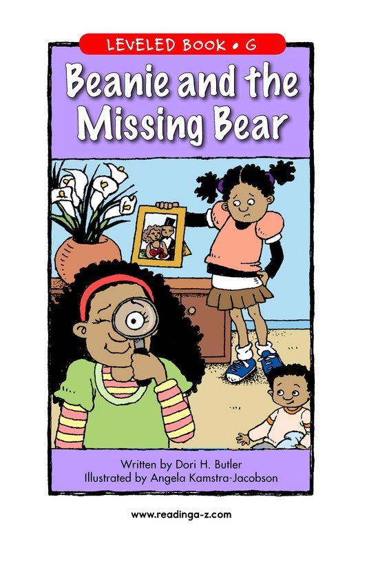 Book Preview For Beanie and the Missing Bear Page 1