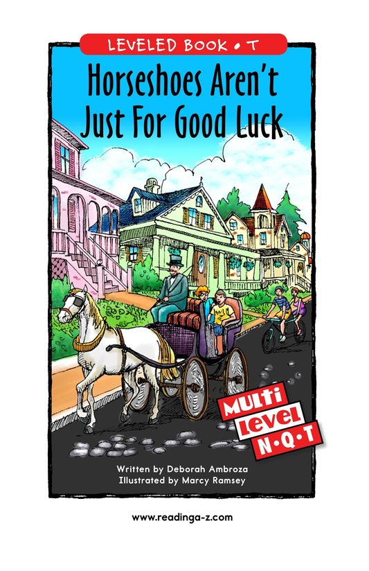 Book Preview For Horseshoes Aren't Just for Good Luck Page 1