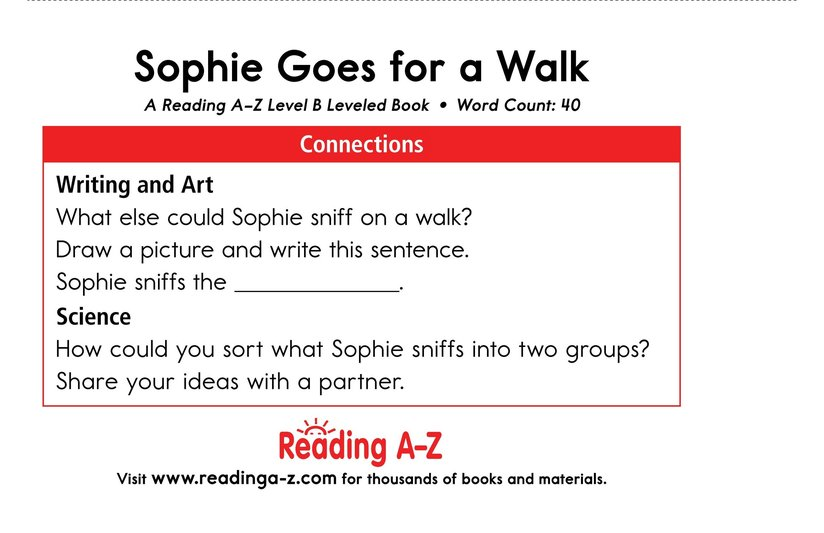 Book Preview For Sophie Goes for a Walk Page 11
