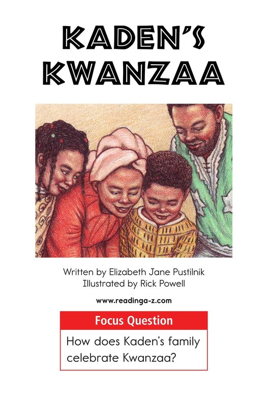 Book Preview For Kaden's Kwanzaa Page 1
