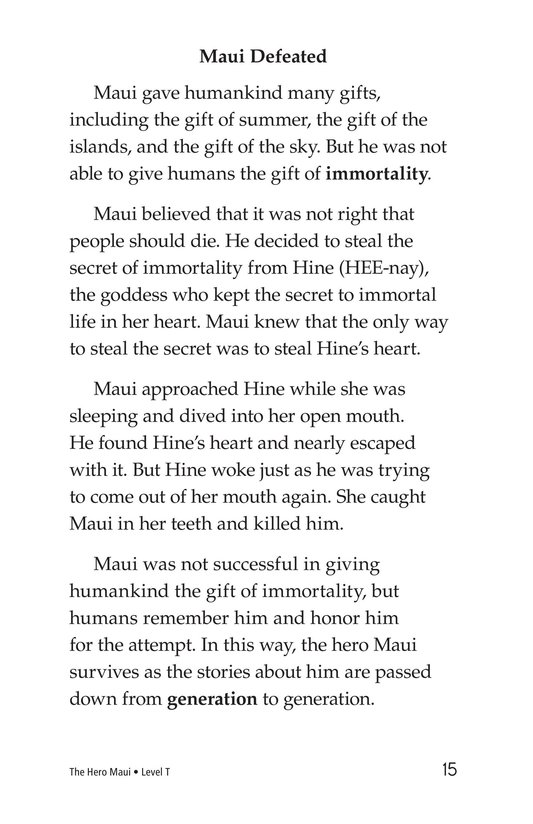 Book Preview For The Hero Maui Page 15