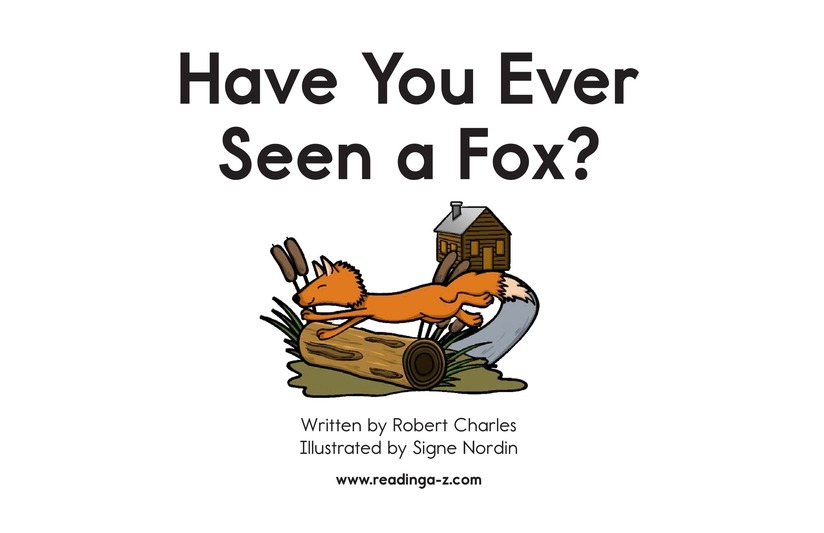 Book Preview For Have You Ever Seen a Fox? Page 2