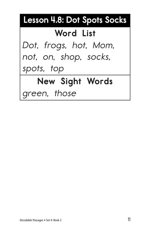 Book Preview For Decodable Passages Set 4 Book 2 Page 11