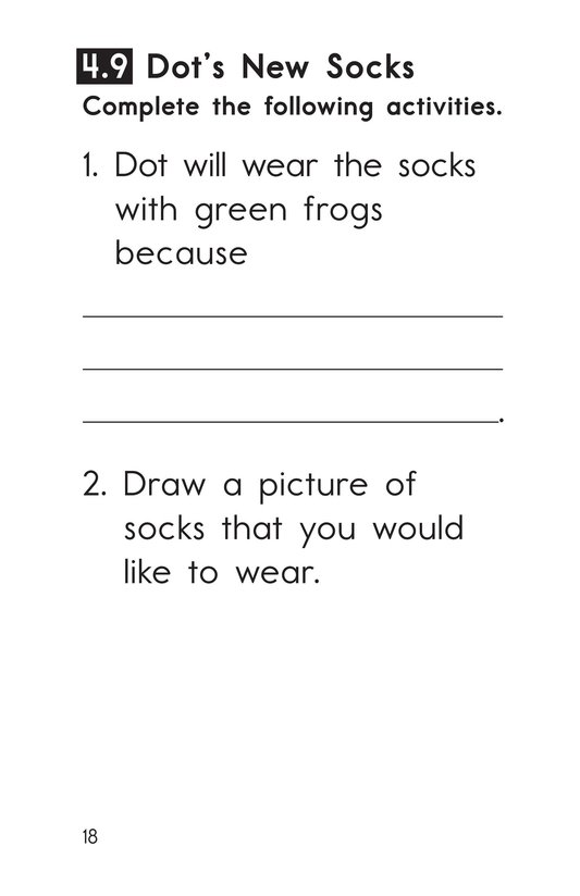 Book Preview For Decodable Passages Set 4 Book 2 Page 18