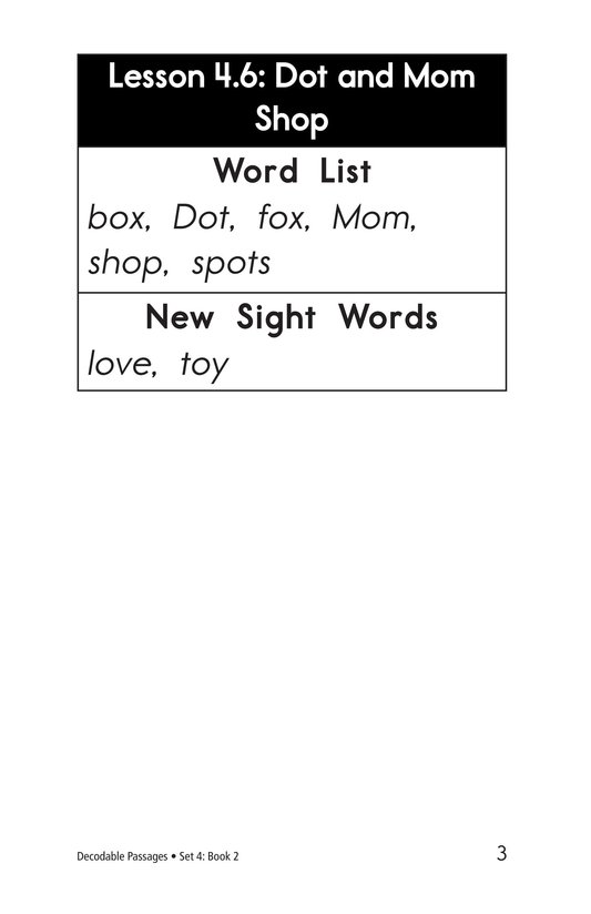 Book Preview For Decodable Passages Set 4 Book 2 Page 3