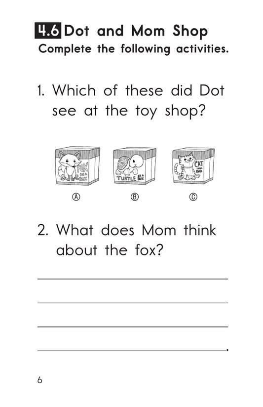 Book Preview For Decodable Passages Set 4 Book 2 Page 6