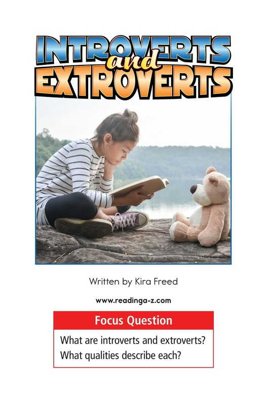 Book Preview For Introverts and Extroverts Page 1