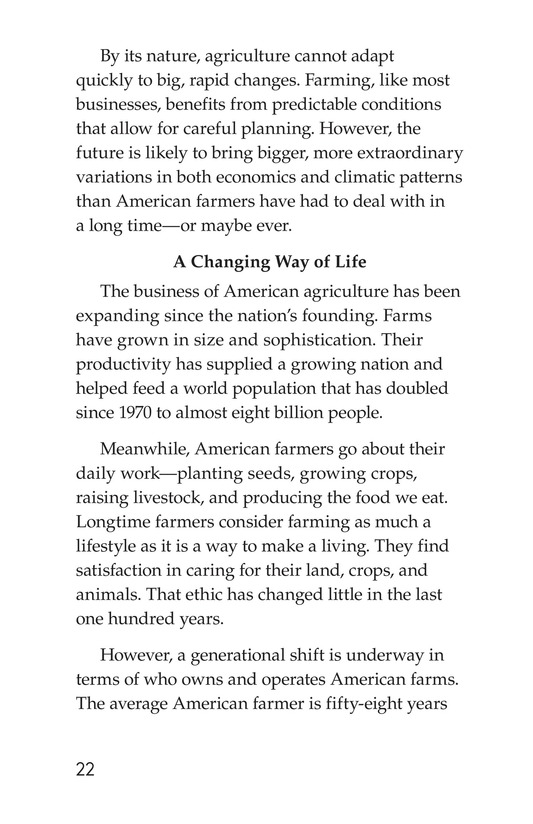 Book Preview For American Farms: Past, Present, and Future Page 22