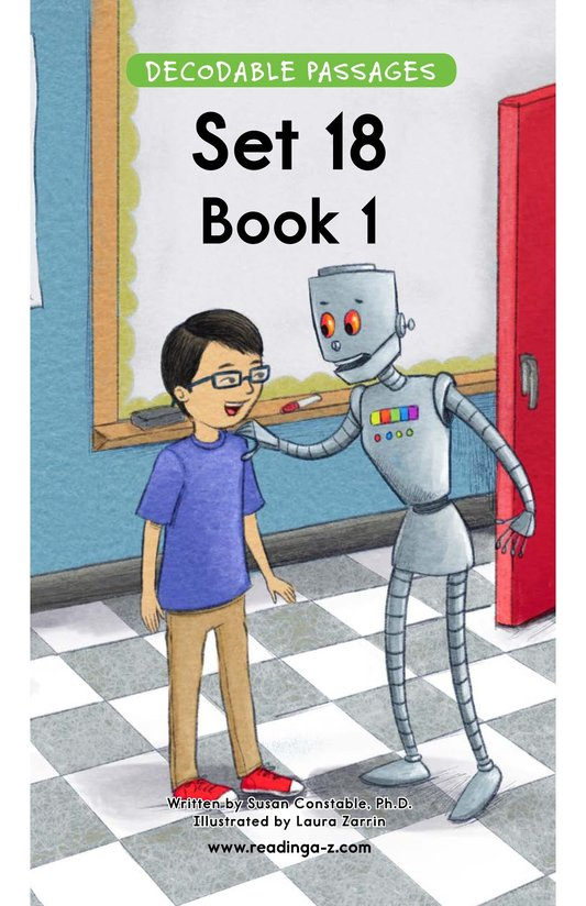 Book Preview For Decodable Passages Set 18 Book 1 Page 1
