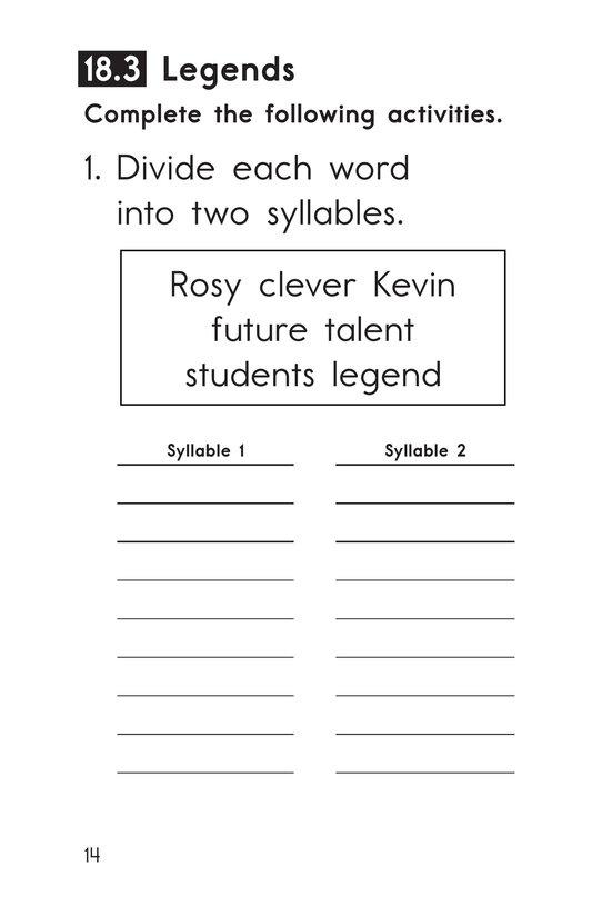 Book Preview For Decodable Passages Set 18 Book 1 Page 14