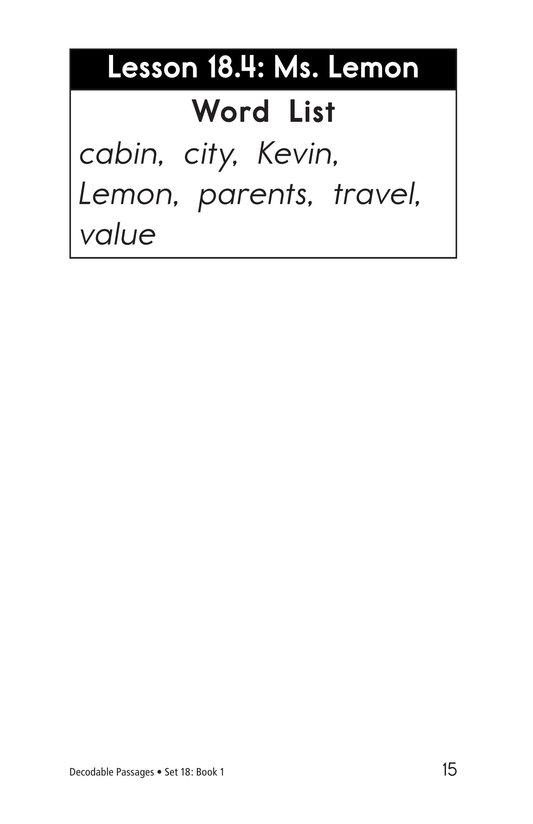 Book Preview For Decodable Passages Set 18 Book 1 Page 15