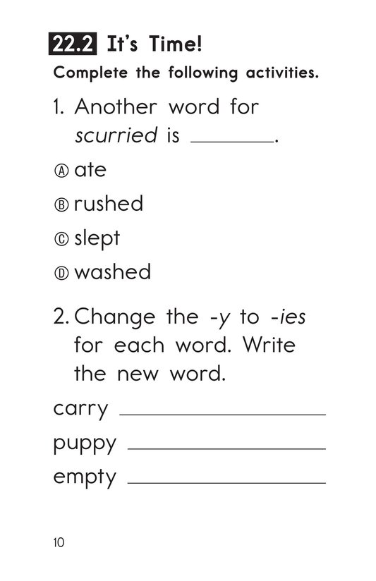 Book Preview For Decodable Passages Set 22 Book 1 Page 10