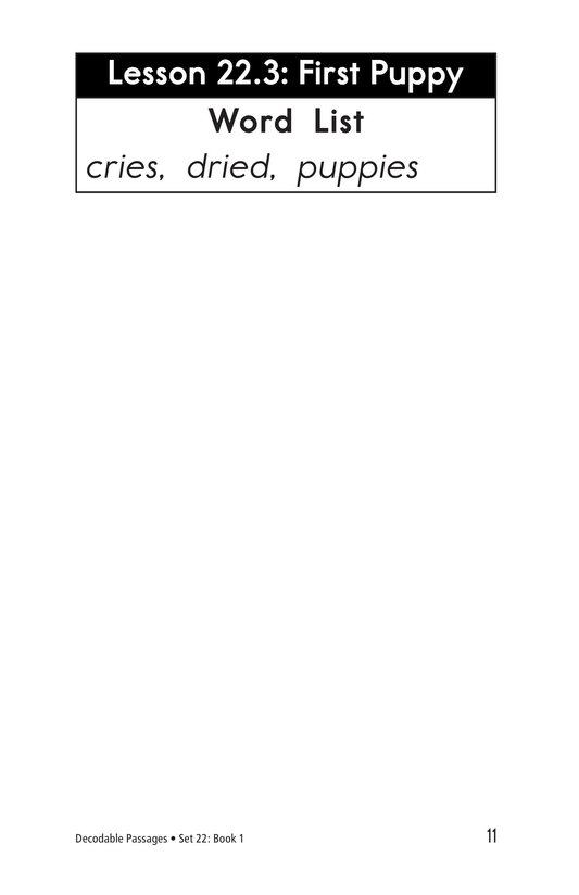 Book Preview For Decodable Passages Set 22 Book 1 Page 11