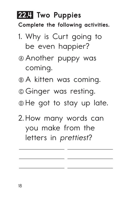 Book Preview For Decodable Passages Set 22 Book 1 Page 18