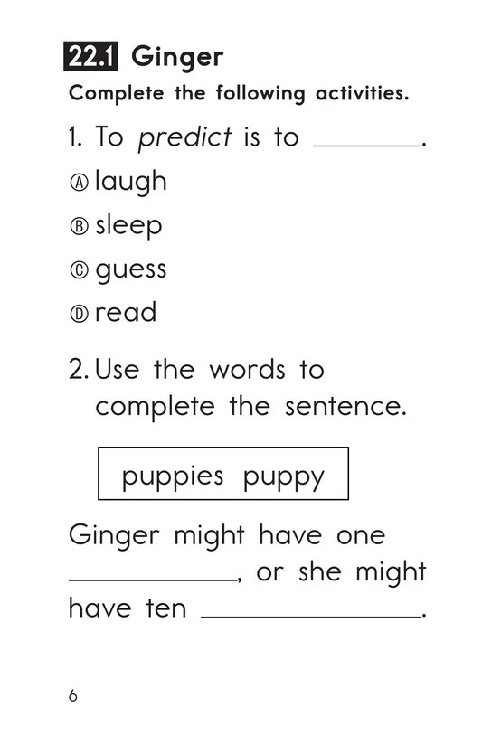 Book Preview For Decodable Passages Set 22 Book 1 Page 6