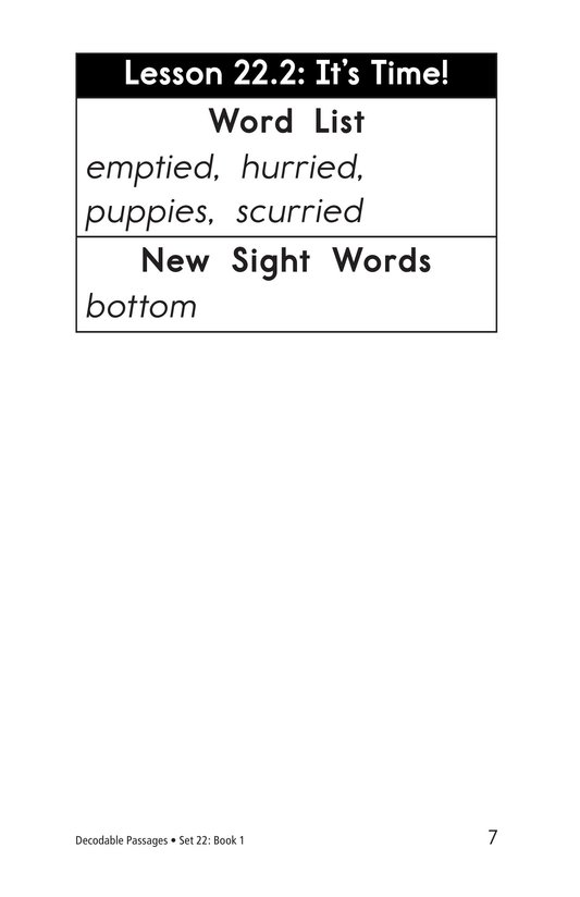 Book Preview For Decodable Passages Set 22 Book 1 Page 7