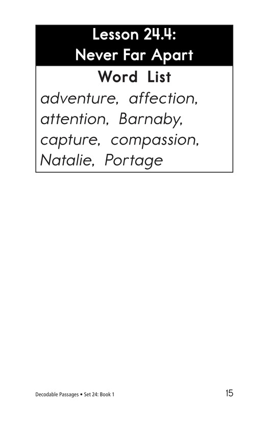 Book Preview For Decodable Passages Set 24 Book 1 Page 15
