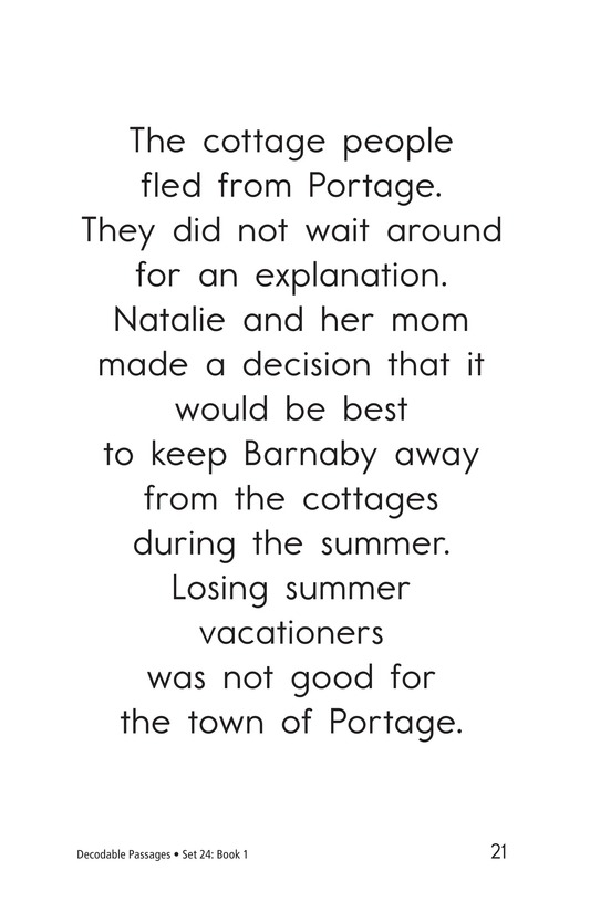 Book Preview For Decodable Passages Set 24 Book 1 Page 21