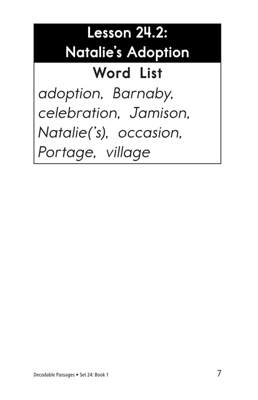 Book Preview For Decodable Passages Set 24 Book 1 Page 7