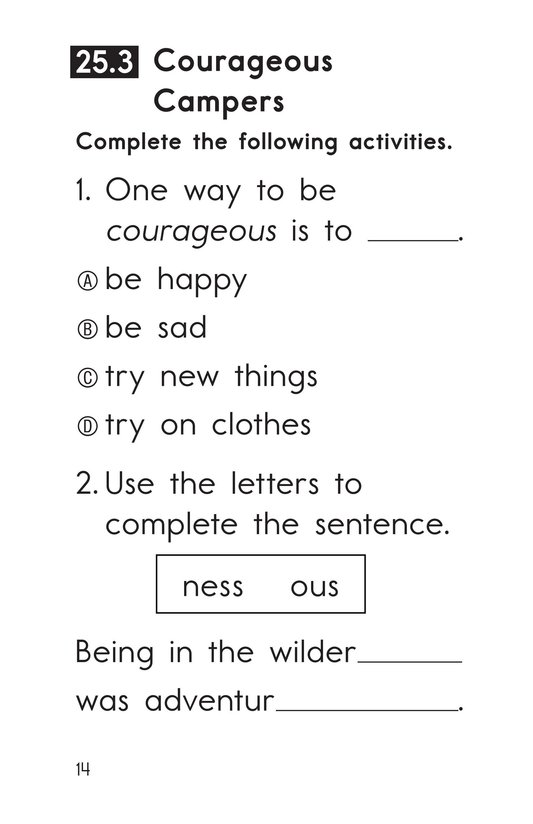 Book Preview For Decodable Passages Set 25 Book 1 Page 14