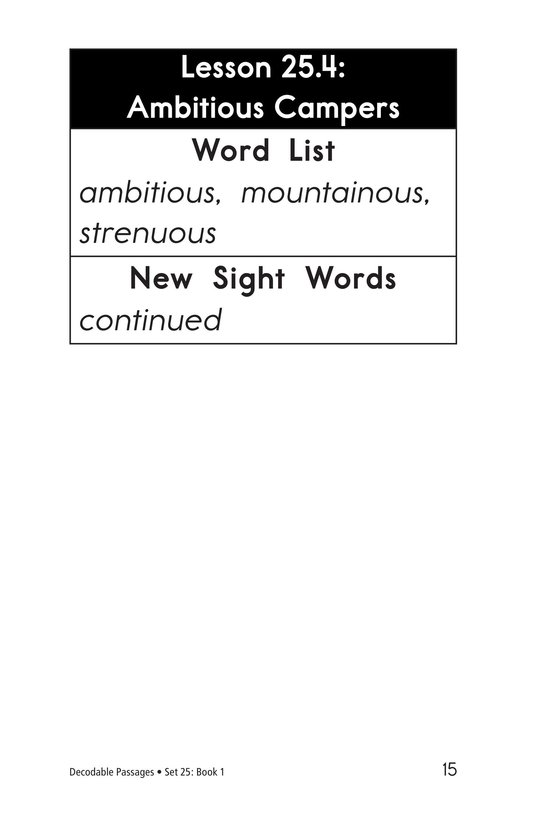 Book Preview For Decodable Passages Set 25 Book 1 Page 15