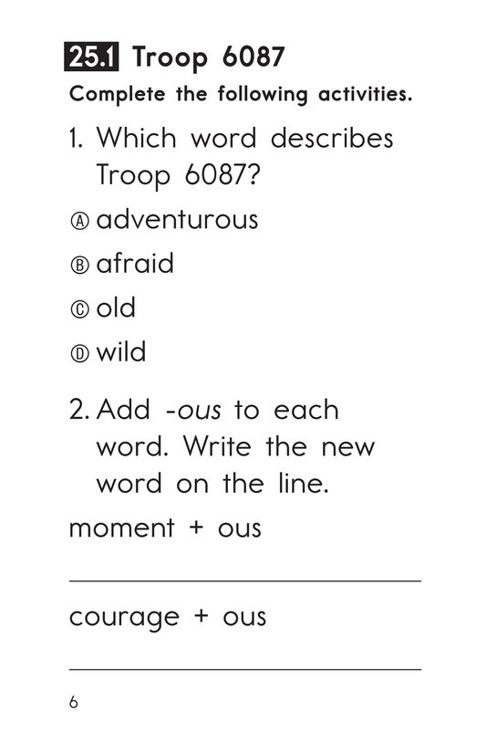 Book Preview For Decodable Passages Set 25 Book 1 Page 6