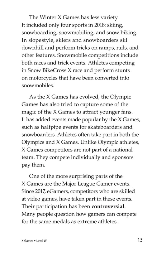 Book Preview For X Games Page 13