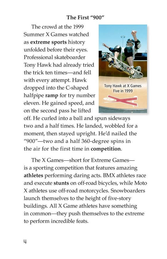Book Preview For X Games Page 4