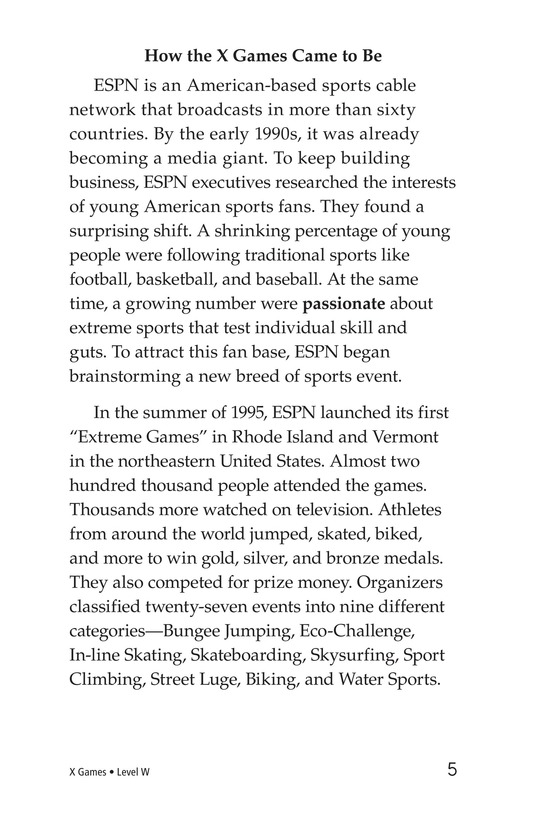 Book Preview For X Games Page 5