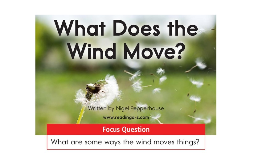 Book Preview For What Does the Wind Move? Page 1