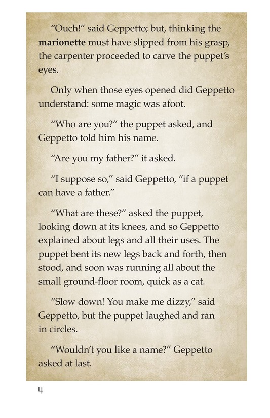 Book Preview For Pinocchio, Part 1 Page 4