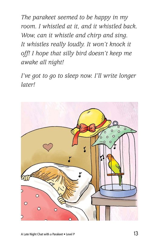 Book Preview For A Late Night Chat with a Parakeet Page 13