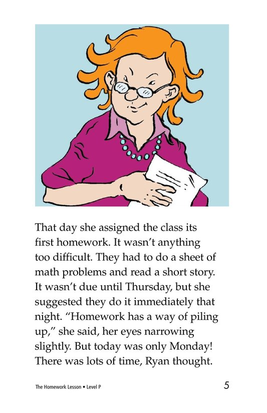 Book Preview For The Homework Lesson Page 5