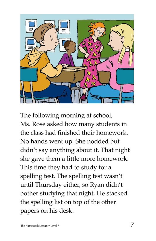 Book Preview For The Homework Lesson Page 7